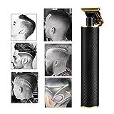 LNLJ cortauñas inalámbricas, eléctrica Pro Li Outliner Grooming, recortadora de corte recargable con hoja en T para hombres, peines guía de 0/1/2/3 mm (negro)