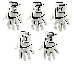 5 guantes golf piel cabreta