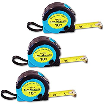 Where s My Tape Measure? - 10ft Tape Measure Retractable  3 Pack  Tape Measure with Fractions - Locking Small Measuring Tape - Accurate Measurement - Easy to Read & Easy to Find!