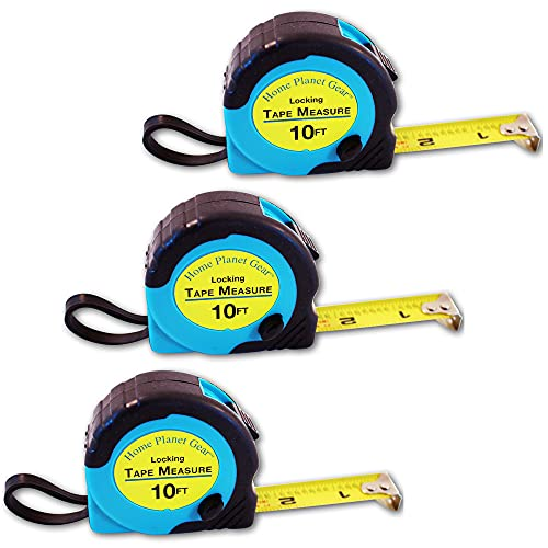 Where's My Tape Measure? - 10ft Tape Measure Retractable (3 Pack) Tape Measure with Fractions - Locking Small Measuring Tape - Accurate Measurement - Easy to Read & Easy to Find!
