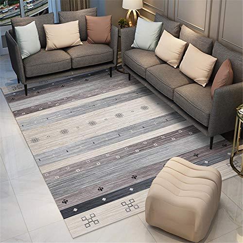 Garden Rugs Waterproof grey Living room carpet gray simple stripe pattern durable carpet anti-mite Boys Bedroom Rug 180X280CM Large Living Room Rugs 5ft 10.9''X9ft 2.2''