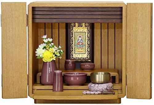 なーむくまちゃん工房 ミニ仏壇 「クルミタモ」 仏具一式セット付き 真言宗