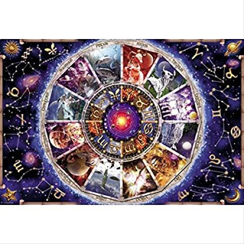 VGFTP Puzzels van 1000 stukjes, legpuzzel, educatief speelgoed, montagegames, doe-het-zelf puzzelspellen - 12 sterrenbeelden