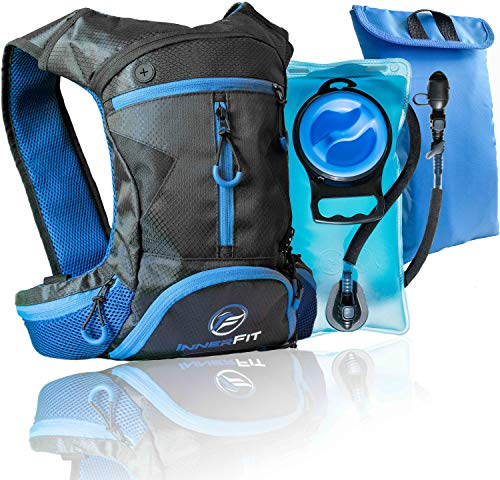 InnerFit Insulated Hydration Backpack and Water Bladder, Durable Camel Backpack Hydration Pack - Ideal Gifts for Runners - Lightweight Water Backpack - Blue