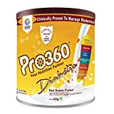 Pro360 Diabetic Protein Powder Nutrition Health Drink Supplement For Diabetes Care - Real Badam...