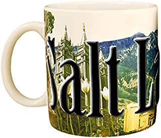 Americaware SMSLC02 Salt Lake City 18 oz Full Color Relief Mug