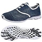 ALEADER Men's Quick Drying Aqua Water Shoes Blue 8.5 D(M) US