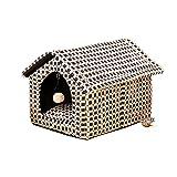 YQQ Caseta De Perro De Lujo Suministros para Perros Pequeño Criadero Nido De Mascotas Nido De Gato Alojamiento De Mascotas Refugio para Gatos Extraíble Y Lavable (Tamaño : 38 * 30 * 30cm)