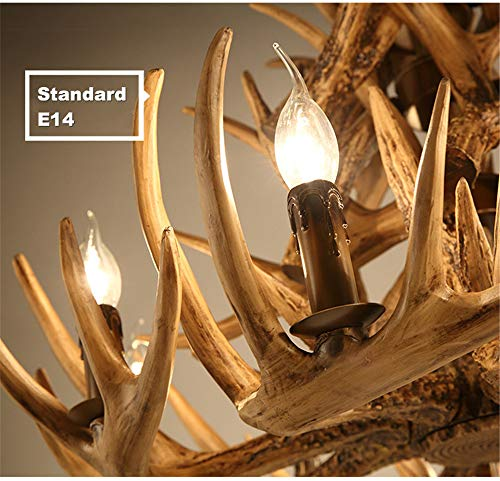CZPF Antlers Resin Life Chandelier Lamp Modern LED Antler Bedroom Chandelier Lustre Chandeliers E14 Vintage Lights Novelty Lighting A 5