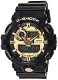 G-Shock Men's GA710GB-1ACR Watch Black Gold