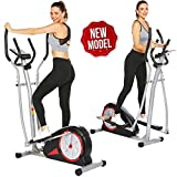 Elliptical Machine Magnetic Elliptical Training Machines with LCD Monitor Smooth Quiet Driven Pulse...