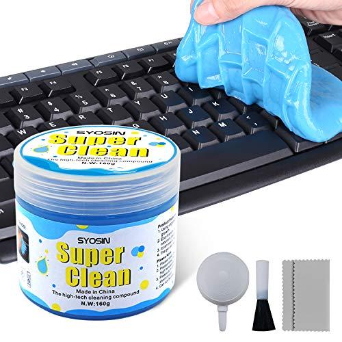 SYOSIN Limpiador Teclado Gel Universal de Limpieza de Polvo Limpiador de Bacterias de Suciedad para Computadoras, Ventilaciones de Automóviles, Impresoras, Calculadoras