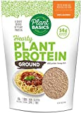 Plant Basics - Hearty Plant Protein - Unflavored Ground, 1 lb, Non-GMO, Gluten Free, Low Fat, Low Sodium, Vegan, Meat Substitute
