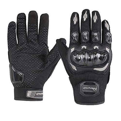 ARTOP Motorrad Handschuh Herren Damen Vollfinger Motorradhandschuhe Sommer Touchscreen Motorcross Handschuhe MännerKinder(Black,XL)