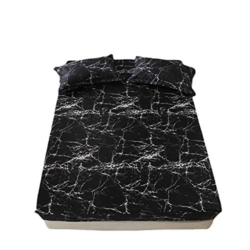 AdorabFruit 3 pezzi biancheria da letto king size modello a forma di cuore con angoli per letto matrimoniale coprimaterasso con elastico (colore: tipo 3, dimensioni: 2 federa 48x74cm)