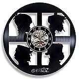 xcvbxcvb Supermercado Gorillaz Disco de Vinilo Reloj de Pared Dormitorio diseño Moderno película de Dibujos Animados Lindo Reloj de Pared Reloj de Pared decoración del hogar