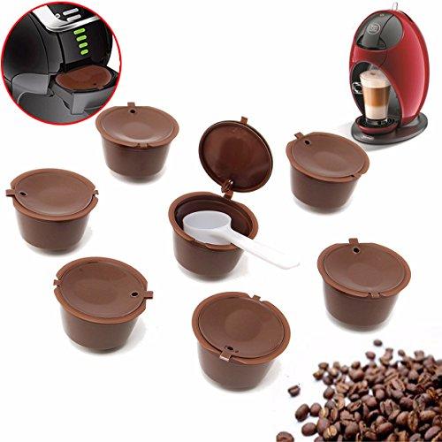 MJJESPORTS - Set di 8 capsule di caffè ricaricabili per Dolce Gusto, riutilizzabili, con filtro