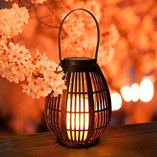Linterna Solar Exterior GolWof Farol Solar Vela Luz LED Suspendida Plástico Exterior Decorativa Iluminación Impermeable Luces de Jardín Lámpara para Garden Mesa Patio Festival