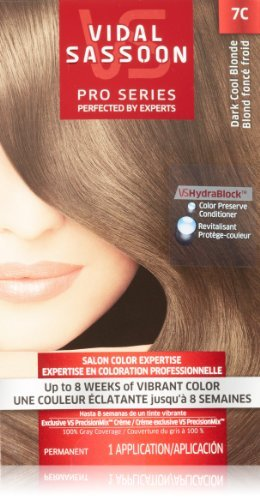 Vidal Sassoon Pro Series Hair Color, 7C Dark Cool Blonde, 1 Kit by Vidal Sassoon