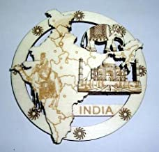 White Artisans India Collage Wood Carved Magnet