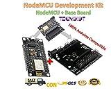 TECNOIOT NodeMcu V3 Lua Wemos WiFi ESP-12E ESP8266 Development Board + Base Board  Entwicklungspanel ESP8266 NodeMCU Lua V3 WiFi mit CH340G USB und Base Shield