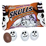Palmer (1) Bag Double Crisp Skulls - Chocolaty N Smooth Crisp N Crunchy Candy - Individually Wrapped Halloween Candy Pieces - Net Wt. 4.5 oz