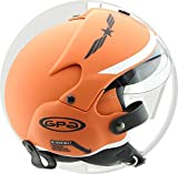OPEN FACE SCOOTER HELMET OSBE GPA AIRCRAFT TORNADO ORANGE ARMY TR1 UK 59-60CM LARGE
