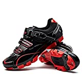 Santic Cycling Shoes Men SPD Mountain Bike Lock Shoes MTB Cycling Accessories Breathable