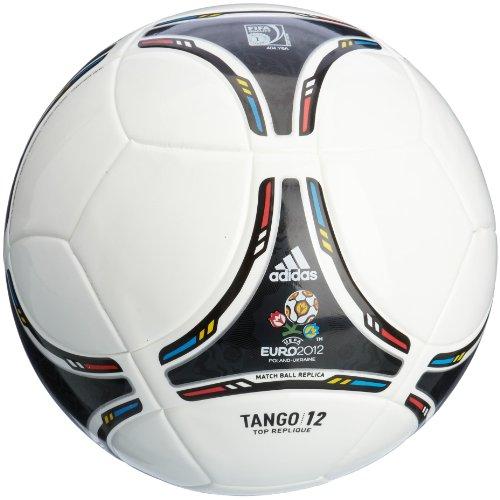 Adidas X18256 Tango 12 Top - Pallone da calcio, Unisex - Adulto, X18256, White/Black (bianco, nero), 4