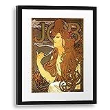 Printed Paintings Passe-Partout (40x55cm): Alfons Mucha - Job Cigarettes