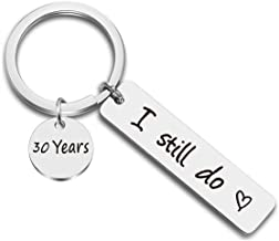 JJTZX I Still Do Keychain 10th 20th 30th 40th 50th Wife Husband Keyring Couples Keychains Wedding
