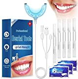 Teeth Whitening Kit, iFanze Teeth Whitening Gels Kit Set with Led Light Professional