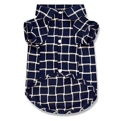 Koneseve Hunde-Shirt, Haustier-Hemd, Polo-Kleidung, T-Shirt, Pullover, weich, für kleine Hunde, Katzen, Welpen, Netzbekleidung, entzückende Pyjama-Kostüme, passend für Weihnachten { Blau #2; XXL}