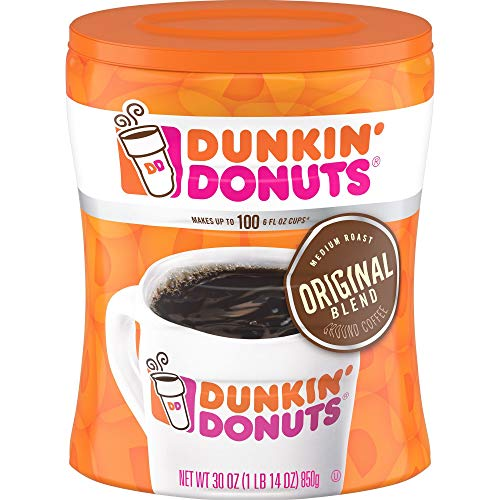 3-Pack Dunkin' Donuts Original Blend Ground Coffee, Medium Roast, 30-Ounce Canisters