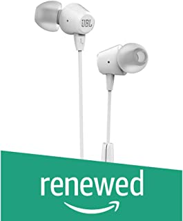 (Renewed) JBL C50HI in-Ear Headphones with Mic (White)