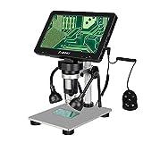 Svbony Sv604 Microscopio Digital, Pantalla LCD HD De 7 Pulgadas, 1200X, Microscopio PortáTil con Control Remoto con Cable, para EnseñAnza, Placas De Circuito, IdentificacióN De Joyas