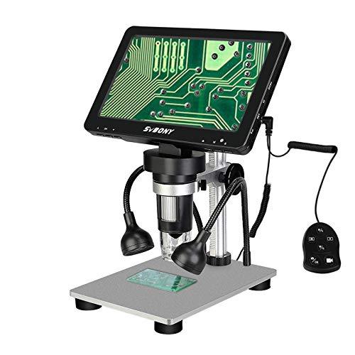 """Svbony SV604 Digital Mikroskop, 1x-1200x Mikroskop Elektronisch 7"""" LCD Bildschirm, 12MP 1080FHD Kabelgebundener Fernbedienung für Unterricht Beobachtung Von Antiquitäten, Schmuckidentifikation"""
