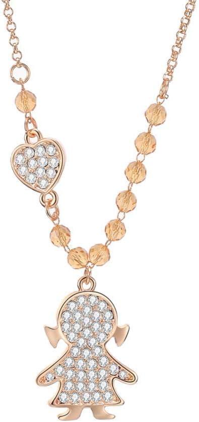 MDHANBK Women's Necklace Little Girl Shape It is very popular Silver Gold Baltimore Mall Heart Sha