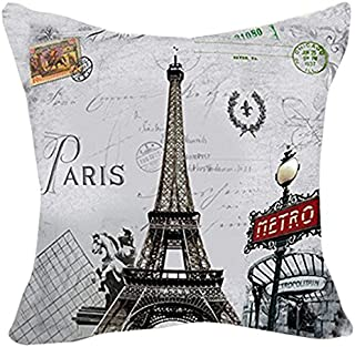 Best eiffel tower cushion covers Reviews