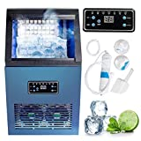 Commercial Ice Maker,Fencia AC110V Auto Commercial Ice Maker Cube Machine 50KG Stainless Steel