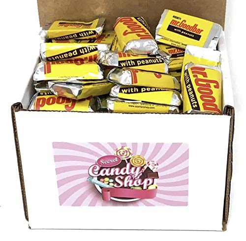 Hershey's Mr Goodbar Milk Chocolate Peanuts Candy Bar in Box, 1Lb (Individually Wrapped)