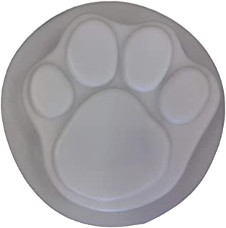 Small Dog Cat Paw Print 7 in Stepping Stone Concrete Plaster Mold 1018