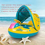 Roeam Inflatable Baby Pool Float Baby Water Floats with Canopy Portable Inflatable Circle
