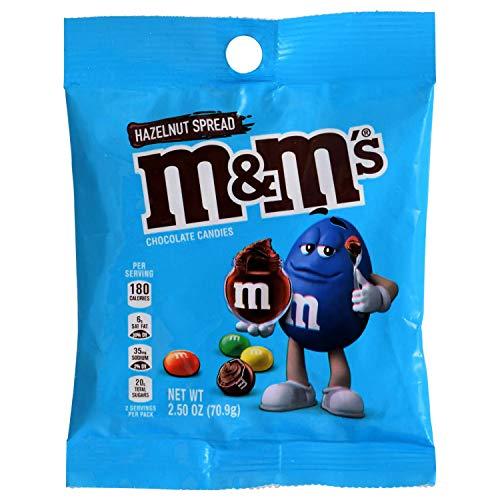 Mars (1) Bag M&M's Hazelnut Spread Chocolate Candies Limited Edition - Net Wt. 2.50 oz