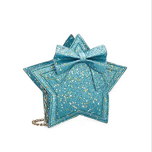 Schwenly - Bolso bandolera para mujer, diseño de estrella, diseño de bowknot, Blue (Azul) - Schwenly