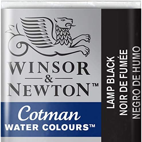 Winsor Newton Cotman Watercolour Paint Half Pan Lamp Black 337 product image