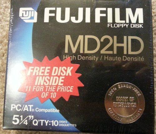 Fuji Disketten, 13,2 cm (5,25 Zoll), MD2HD, 10 Stück