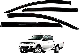 accessorypart Deflettori Aria Antiturbo per Mitsubishi L-200 Trition 2016-2020 Vento fumo Pioggia Sole Deflettore Nero