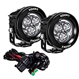 Vision X Lighting CG2-CPM310KIT CG2 Mini Light Cannon Series 3.7' 3 LED Light (Pair/Including Harness)
