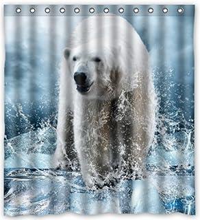 outlet-seller Custom Walking oso polar en hielo impermeable baño cortina de ducha de tela 66